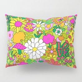 60's Groovy Garden in Lime Green Pillow Sham