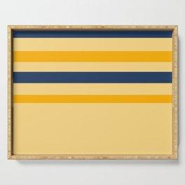 Yellow  blue  stripes  horizontal Serving Tray