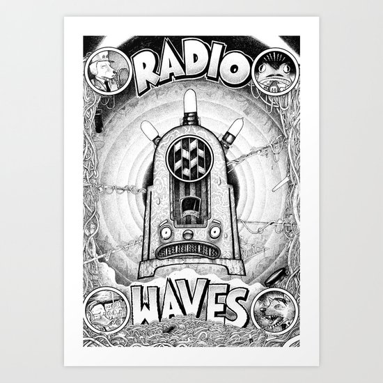 Radio Waves Art Print