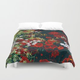 The Flower Bed (Color) Duvet Cover