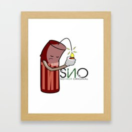 S.N.O Blowing up Framed Art Print