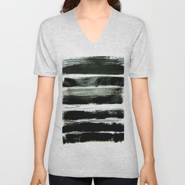 black strokes Unisex V-Neck