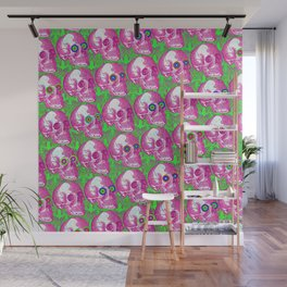 Skullwatchers Pattern Wall Mural