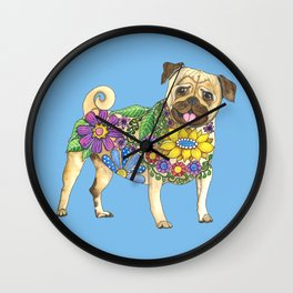 The Pugster (Blue) Wall Clock