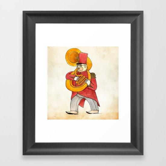 García, tuba Framed Art Print
