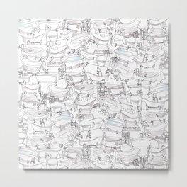 Bathtubs Metal Print