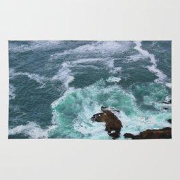 Churning Waves at Point Reyes Rug