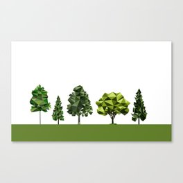 Poly geometric trees Canvas Print