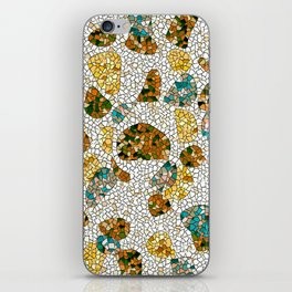 Gold, Copper, and Blue Mosaic Abstract iPhone Skin
