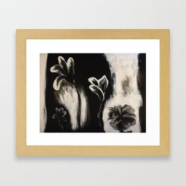 Dark Flowers Framed Art Print