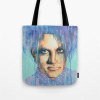 the cure Tote Bags featuring Pastel Cure by Anne Blondie Bengard