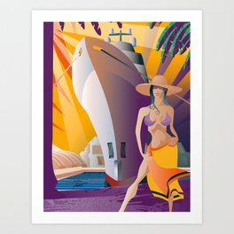 Boat Show Girl Art Print