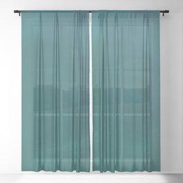 Teal Blue Green Watercolor  Sheer Curtain