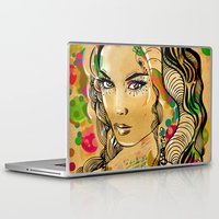 dots Laptop & iPad Skins featuring Dots by Irmak Akcadogan