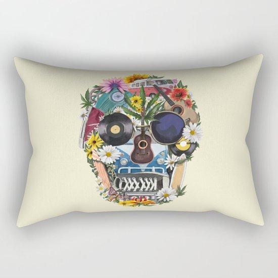 summer skull Rectangular Pillow