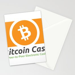 Bitcoin Cash Logo - Peer-to-Peer Electronic Cash Stationery Cards