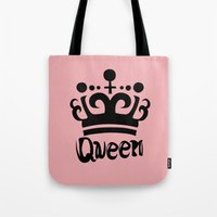 arya Tote Bags featuring Queen Levy by Arya