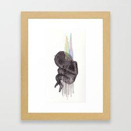 Birth. Conspire. Be. Upset. Framed Art Print