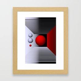 3D-geometry -5- Framed Art Print