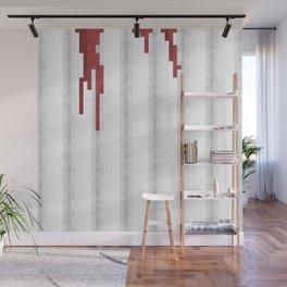 Pixel Blood Shower Curtain Wall Mural