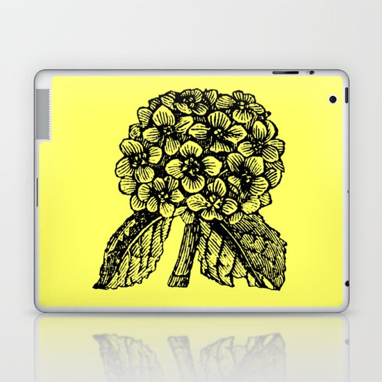 Yellow Hydrangea Laptop & iPad Skin
