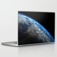 earth Laptop & iPad Skins featuring Earth by Space99