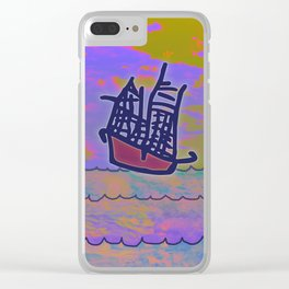 Tribal Ship Following The Star Clear iPhone Case