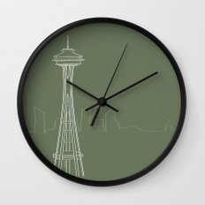 Seattle by Friztin Wall Clock