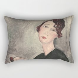 Portrait of Dedie Hayde by Amedeo Modigliani Rectangular Pillow