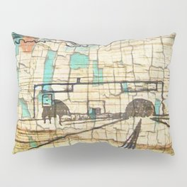 Distressed Compilation Pillow Sham