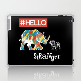 New Friend Rhino Funny Bulldog-Hello Stranger Laptop & iPad Skin