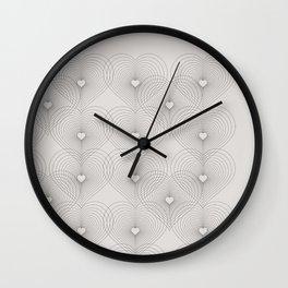 Heart Shape Pattern #society6 #decor #buyart Wall Clock