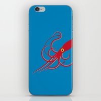 squid iPhone & iPod Skins featuring Squid by Mark Walker