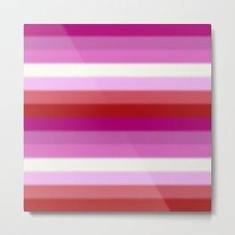 Lesbian Pride Flag v2 Metal Print