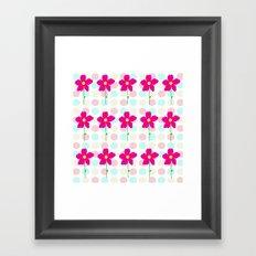 Flower.. Polka Dot Framed Art Print