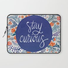 Stay Curious – Navy & Coral Laptop Sleeve