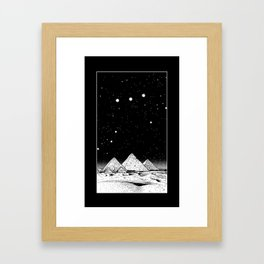 The Pyramids of Giza Framed Art Print