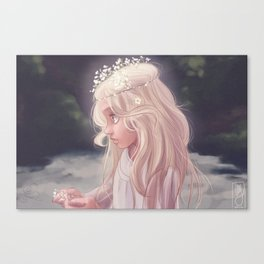 Girl by the River Canvas Print