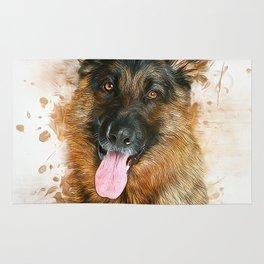 German Shepherd Rug