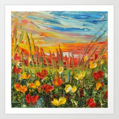 SUNSET MEADOW II Art Print