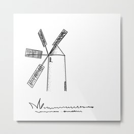 mill on white background Metal Print