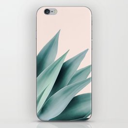 Agave flare II - peach iPhone Skin
