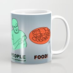 PEOPLE taking pictures of FOOD Coffee Mug