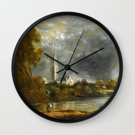"""John Constable """"Salisbury Cathedral from the Meadows"""" Wall Clock"""