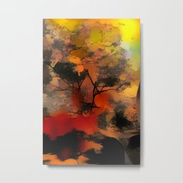 Abstract Tree in sunset Metal Print