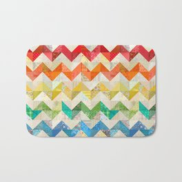 Chevron Rainbow Quilt Bath Mat
