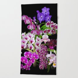 Orchids - Cool colors! Beach Towel
