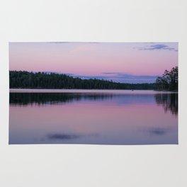 Sunset on Little Loon Rug