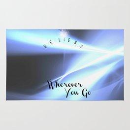 Be Light Wherever You Go- Blue Wave Rug