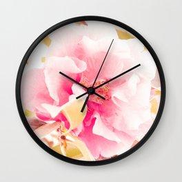 camellia I Wall Clock